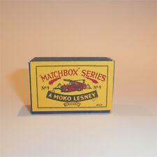 Matchbox Lesney  9 a Fire Escape Truck empty Repro B style Box