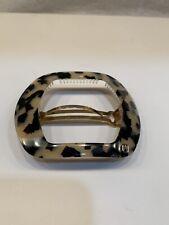 Alexandre de Paris Barrette Hairclip Black & Ecru Tortoise Shell Pattern NWOT