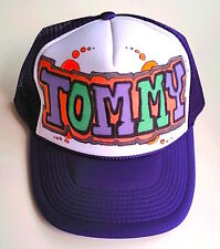 Tommy Name Gift Trucker Hats Caps Personalized Custom Graffiti Airbrush Art