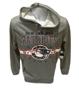 New England Patriots NFL Team Apparel Hoodie Sweatshirt Gray Mens Small NWT