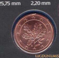 Allemagne 2016 5 centimes A Berlin BU FDC provenant coffret 33000 exemplaires -