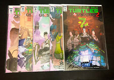 TEENAGE MUTANT NINJA TURTLES / GHOSTBUSTERS 2 (IDW) -- #1 2 3 4 5 -- FULL Series