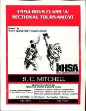 High School Basketball Program Illinois 1994 Tournament Boys AA