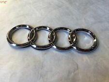 NEW AUDI FRONT REAR BACK TRUNK LID GRILL RING RINGS LOGO BADGE EMBLEM CHROME S