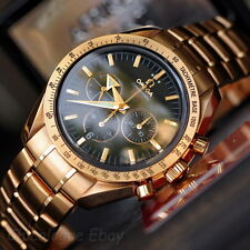 Omega Speedmaster Broad Arrow 1957 18k gold automatic mens chronograph watch