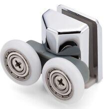 1 x Double Bottom Shower Door Rollers/Runners 23mm Wheel Diameter LAS1