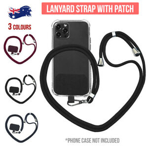 Universal Mobile Phone Lanyard Adjustable Hanging Neck Strap With Patch AU STOCK