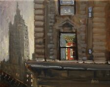 Adam Maeroff original Realist Impressionist art Manhattan NYC New York painting