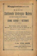 Stampa antica pubblicità IDROTERAPIA MAGGIANICO di LECCO 1895 Antique print