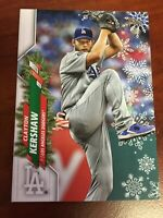 CLAYTON KERSHAW  2020 Topps Holiday CANDY CANES IN POCKET #HW82 LA DODGERS