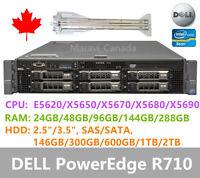 DELL R710 Server 2x X5670 24GB RAM  6X TRAYS H700 Raid 2x870W with Rail
