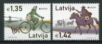 Latvia Europa Stamps 2020 MNH Ancient Postal Routes Bicycles Horses 2v Set