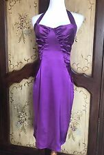 Betsey Johnson Royal Purple Silk Sheath Dress