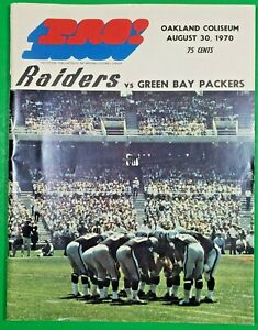 Pre-season Program: Oakland Raiders Host Green Bay Packers, Aug. 30, 1970