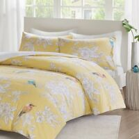 Luxury 100% Cotton Garden Birds Bedding Set Duvet Quilt Cover King Double Size