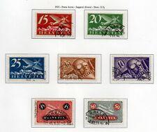 1923/37 SVIZZERA POSTA AEREA SERIE COMPLETA 7 VALORI UNIF.A3-A9 - USATI