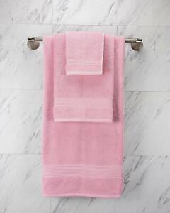 Turkish 100% Cotton PINK Color Towels,1 Bath, 1 Hand Towel, 1 Washcloth HOTEL
