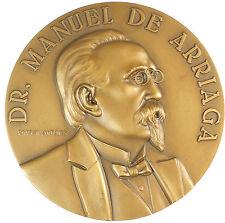 Portugal DR MANUEL ARRIAGA bronze 80mm.