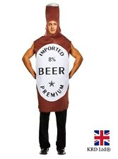 ADULT BEER BOTTLE Fancy Dress Costume Mens Stag Night Party Outfit Halloween UK