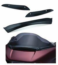 Kuryakyn Gloss Black Center + Side Trim Package Windshield Harley Road Glide FLT