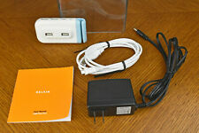 Belkin USB 2.0 Plus Hub 4 Port For PC Windows & Mac F5U304 - White & Blue