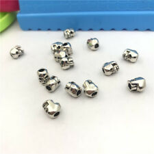 12pcs Jewellery Making Skull Spacer Bead Charms Pendant Tibetan Silver 7x5mm