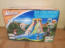 Banzai 90321 Slide N Soak Splash Park Inflatable Outdoor Kids Play Center