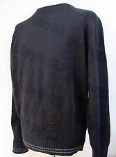 Mens Boston Traders Round Neck Sweater Jumper Lambswool Blend Black S M L XL New