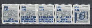 Dubrovnik (Croatia) ☀ War time 1992 overprint Ragusa / San Marco ☀ strip of 5