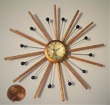 New! Beautiful! One-of-a-kind Mid-Century Modern Dollhouse Miniature Wall Clock