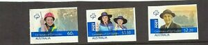 MINT 2010 CENTENARY OF GIRL GUIDES  P&S STAMP SET - EX BOOKLET
