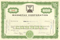 Magnefax Corporation > 1960s Pennsylvania stock share certificate