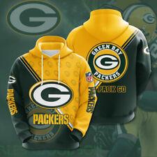 Green Bay Packers Hoodie 3D print Sweatshirt Pullover Football Hooded Jacket