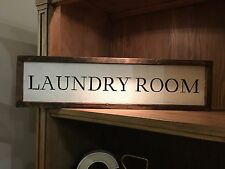 laundry room rustic wood sign, farmhouse style, home decor, framed FREE SHIPPING