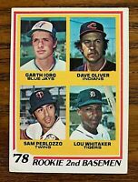 1978 Topps #704 Lou Whitaker Rookie - Tigers