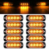 10x Amber 4LED Car Truck Emergency Beacon Warning Hazard Flash Strobe Light Bar