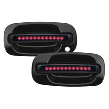 For Chevy Silverado 1500 99-06 IPCW Front Black Door Handles w Red LEDs