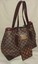 $2,590 Authentic Louis Vuitton Hampstead Damier Ebene MM Shoulder Bag /LV Wallet
