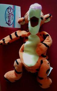 """a Disney 9"""" Tigger Mini Bean Bag Beanie NWT from Winnie the Pooh"""