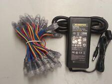 50pc Pencil RGB LED 12mm Pixel + 5V-8A Supply Waterproof Addressable *US SHIP*