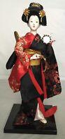 Vintage Japanese Geisha Doll Holding Tsuzumi Drum