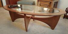Vintage Original G Plan Astro Oval Coffee Table  Glass top & Teak