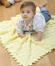 KNITTING PATTERN - BEAUTIFUL LACY EYELET PATTERN ARAN BABY BLANKET/SHAWL