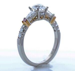 Simon G - Platinum and 18k Gold Engagement Setting (Size 8.75) *PINK DIAMONDS*