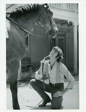 WILLIAM KIRBY CULLEN SMILING WITH HORSE HOW THE WEST WAS WON 1977 ABC TV PHOTO