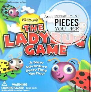 The Ladybug Game Individual Replacement Parts & Pieces -You Choose Cards Pawns+