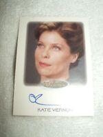 Star Trek Autograph Card Women of Kate Vernon as Commander Valerie Archer