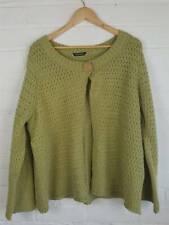 Essence Green Chunky Knit Cardigan Size L UK 14 16 18