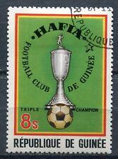TIMBRE GUINEE   SPORT FOOTBALL HAFIA TRIPLE CHAMPION