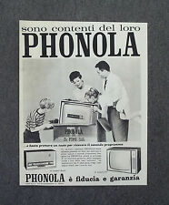 G792 - Advertising Pubblicità - 1962 - PHONOLA TELEVISORI , RADIO